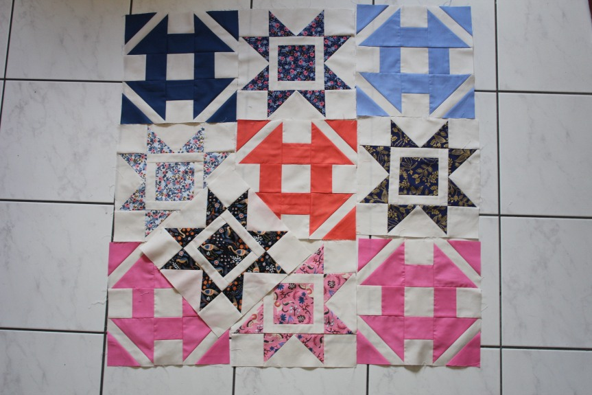 QAL #Dashingcorianderquilts: mes 10 derniers blocs