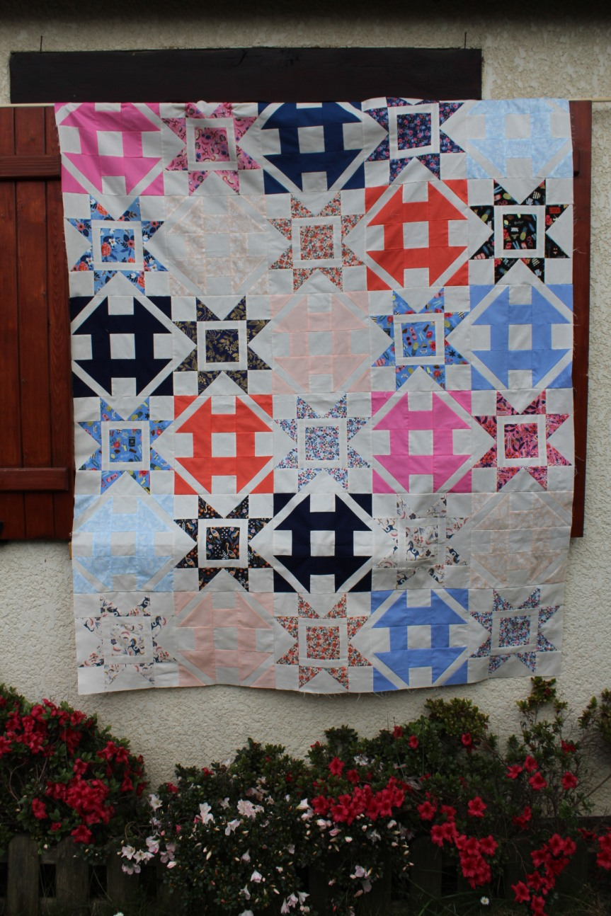 QAL #Dashingcorianderquilts: mon top!